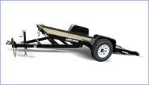Open and enclosed All-Terrain, ATV trailers for sale at Leonard Trailers.