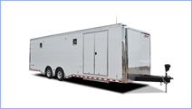 Open and enclosed car trailers for sale at Leonard Trailers.