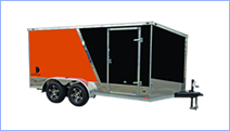 Cargo trailers for sale at Leonard Trailers.