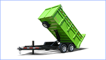 Dump beds, inserts, and dump trailers for sale at Leonard Trailers.