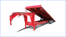 Equipment trailers for sale at Leonard Trailers: New and used bumper pull, gooseneck, and tag equipment trailers.