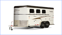 Horse trailers for sale.  Bumper-pull, living quarters, and gooseneck horse trailers for sale.