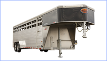Livestock trailers for sale at Leonard Trailers.