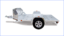 Enclosed and Open Motorcycle Trailers for sale at Leonard Trailers.