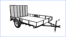 Utility trailers for sale at Leonard Trailers.
